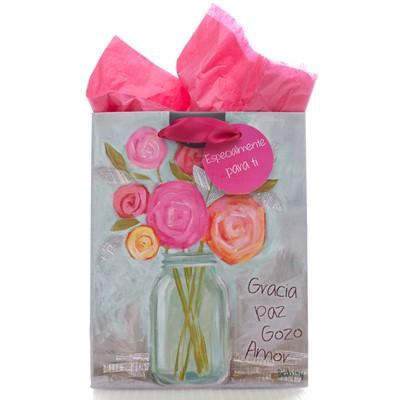 Bolsa de regalo pequeña gracia, paz, gozo y amor [Regalos]