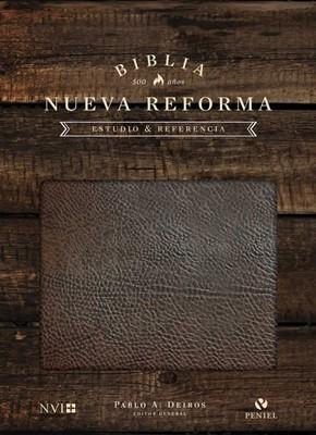 Biblia NVI de Estudio Nueva Reforma cuero europeo edición de lujo (cuero) [Biblia]