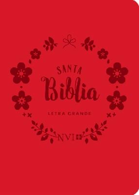 Biblia NVI Bolsillo Letra Grande C Italiano Roja (simil piel) [Biblia]