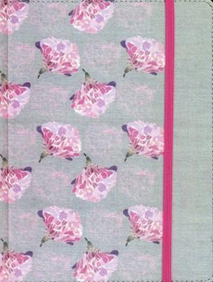 Biblia de Apuntes Gris Floreana Textil (Tapa dura ) [Biblia]