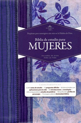 Biblia de Estudio Mujeres Azul Floreada [Biblia]