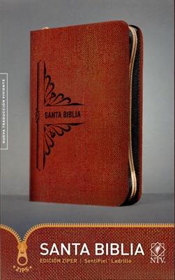 Biblia NTV Ladrillo Sentipiel Con Cierre Manual (Piel Especial) [Biblia]