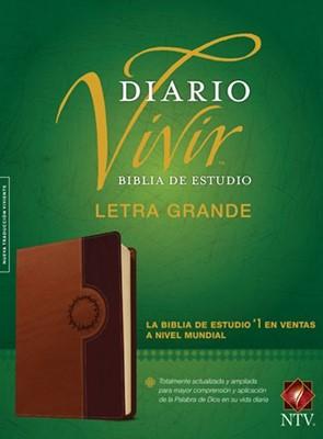 Biblia De Estudio Diario Vivir - Letra Grande / Cafe - Índice (semi piel) [Biblia]