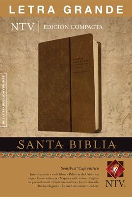 Biblia NTV Edición compacta - Letra grande (Piel ) [Biblia]