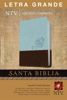 Biblia NTV  LG Azul Chocolate (Piel ) [Biblia]