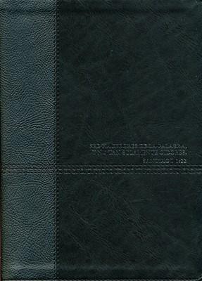 Biblia De Estudio Diario Vivir Negro Nueva Edición (Simil Piel) [Biblia]