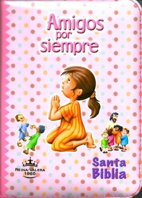 Biblia Amigos Por Siempre Forrada Rosada [Biblia]