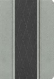 Biblia Letra Grande Tamaño Manual, gris claro/gris carbón símil piel