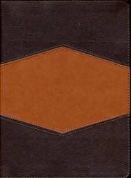 RVR 1960 Biblia de Estudio Holman, chocolate/terracota, símil piel