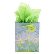Bolsa de regalo pequeña margaritas blancas