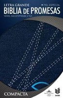 Biblia RVR 1960 de promesa compacta jeans con cierre