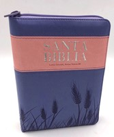 Biblia Reina Valera 1960 Letra Grande Portátil Índice Cremallera Lila