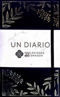 Diario Reflexiones del Corazon Negro Piel Floral