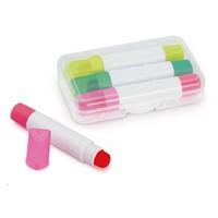 Set Resaltadores Crayon Gel 3 Unidades
