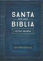 Biblia Letra Grande Vinilo Azul