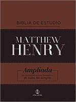 Biblia Estudio Matthew Henry- Marron