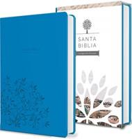 Biblia Tierra Santa Reina Valera 1960 letra grande. Símil piel azul [Biblia]