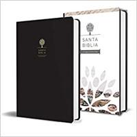 Biblia Tierra Santa Reina Valera 1960 letra grande. Símil piel negro. [Biblia]