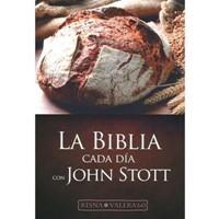 Biblia RVR60 Devocional Cada Día con John Stott (Vinil brillante) [Biblia]
