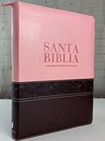 RVR60 Biblia Letra Super Gigante con Índice y Zipper (Piel dos tonos) [Biblia]