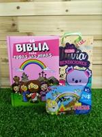 Biblia para Todas las Niñas + Rompecabezas caja Metálica + Funda de Regalo pequeña Mugoshos