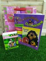 Biblia Amigos por Siempre Rosa Tapa Dura + Libro para Colorear Escoge Bien + Funda de regalo Grande