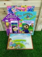 Mi Super Libreta Niña + Cuadro de Madera + Libro para Colorear 1-2-3 Cuenta Conmigo + Funda de regalo grande