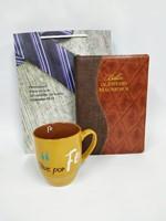 Biblia de Estudio Macarthur Bicolor + Jarro Inspiración + Funda de Regalo