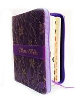Biblia Rvr60 Lila Textil Floreada