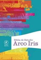 Biblia De Estudio Arco Iris Multicolor - Tapa Dura