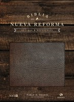 Biblia NVI estudio nueva reforma cuero lujo