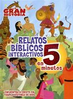 Relatos Bíblicos Interactivos en 5 Minutos (Tapa Dura) [Libro]