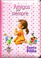 Biblia RVR 1960 Amigos por siempre rosa