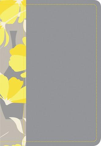 Biblia NTV Compacta Letra Grande Gris y Amarillo