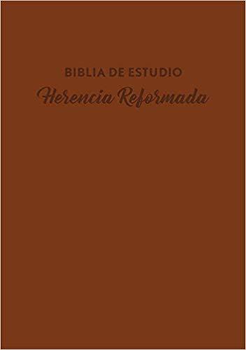 Biblia de Estudio Herencia Reformada- Piel Café