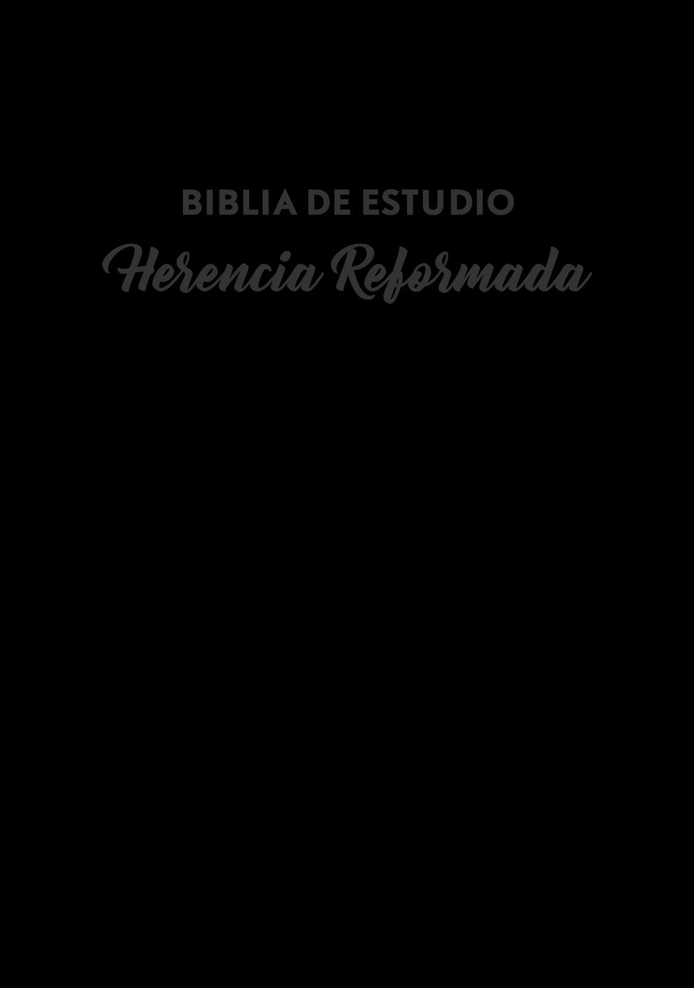 Biblia de Estudio Herencia Reformada- Piel Negra Genuina