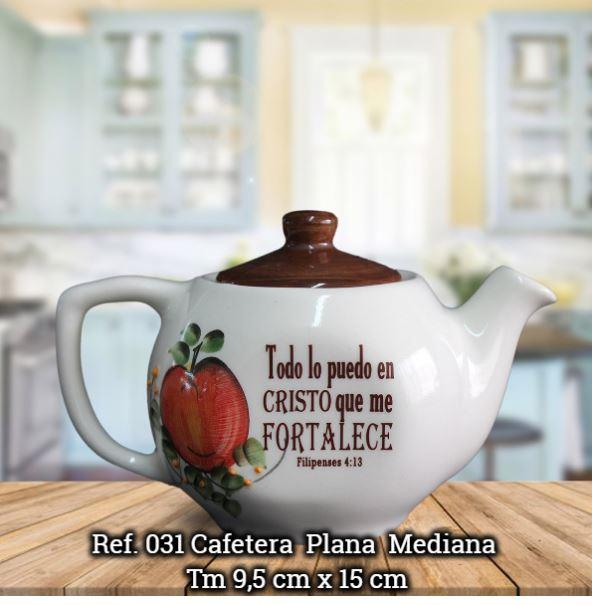 CAFETERA MEDIANA PLANA REF.031