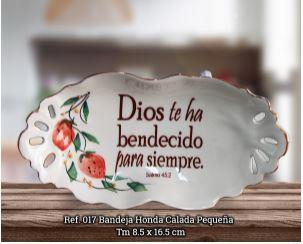BANDEJA HONDA CALADA PEQUENA REF.017