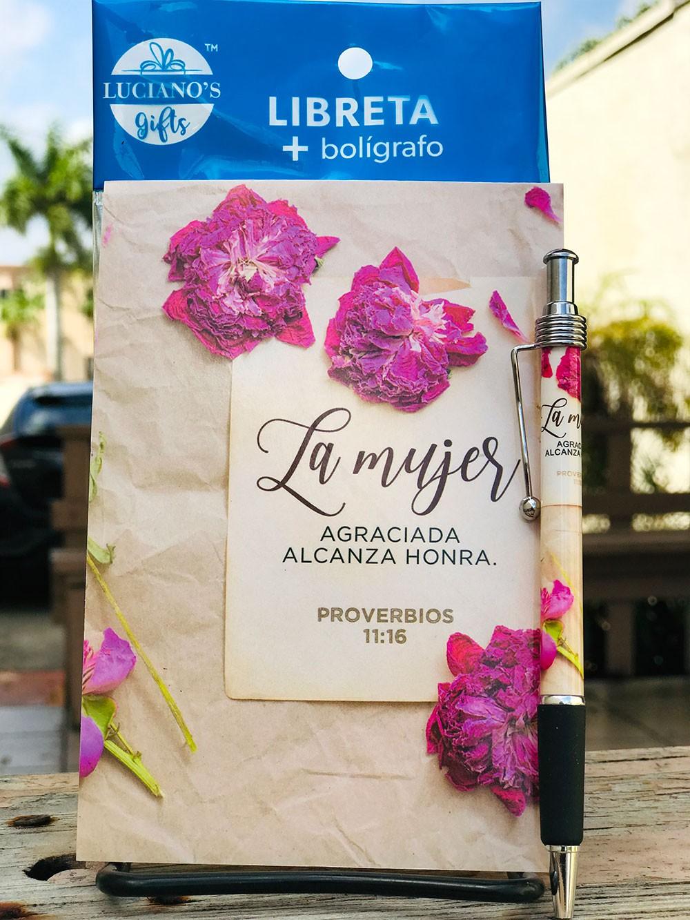 Libreta Pack + Boligrafo La Mujer agraciada Lucianos