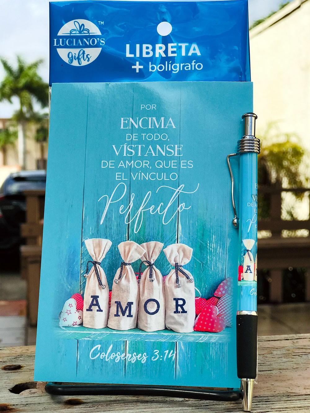 Libreta Pack + Boligrafo Amor Lucianos