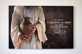 Lienzo Canvas Extra grande Cordero de Dios