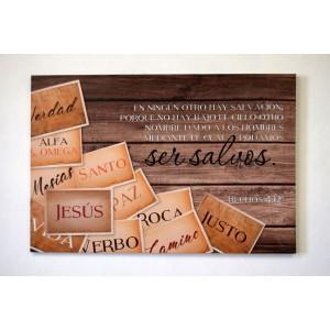 Lienzo Canvas Extra grande Ser salvos en Jesús