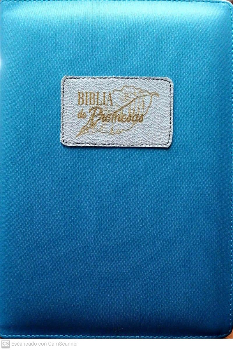 Biblia RVR60 Promesas Letra Grande con cierre