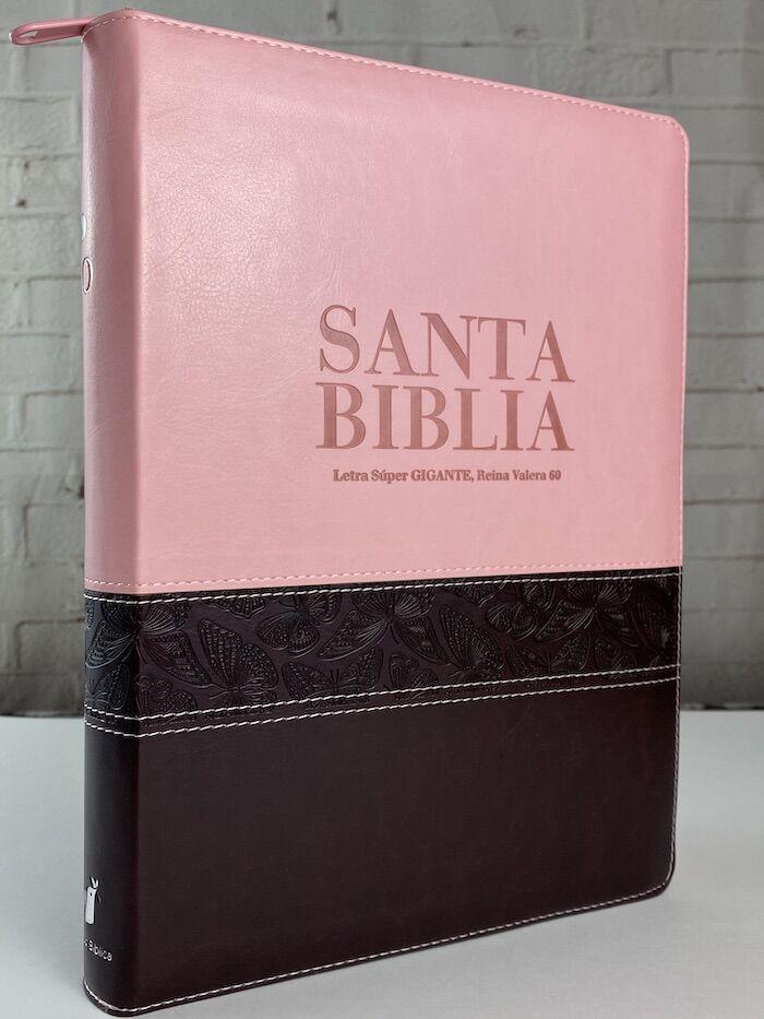 RVR60 Biblia Letra Super Gigante con Índice y Zipper