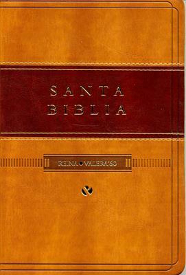 Biblia RVR60 Piel Italiana Duotono Café Claro/Café Oscuro