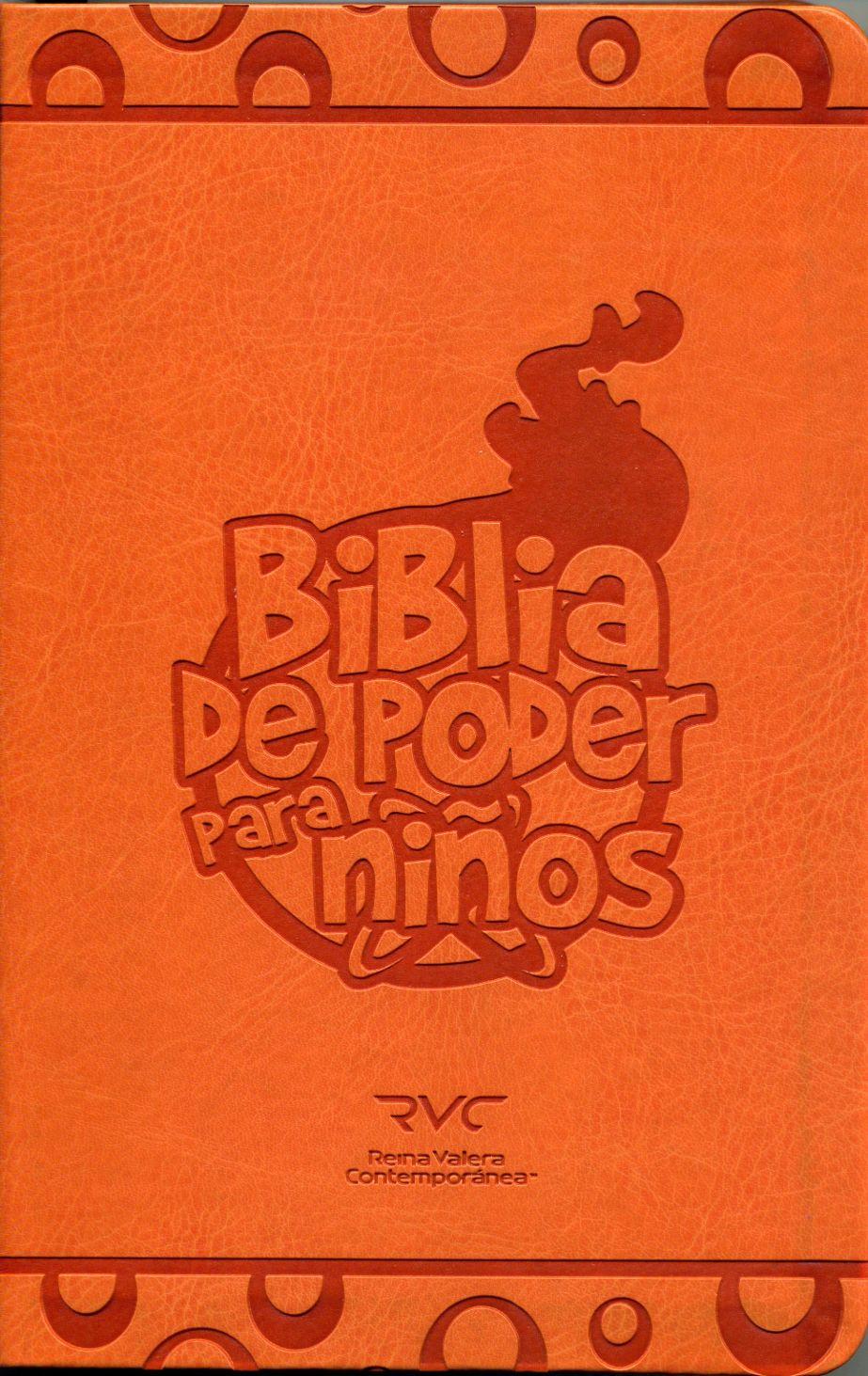 B RVC DE PODER PARA NIÑOS IMIT CUERO NARANJA