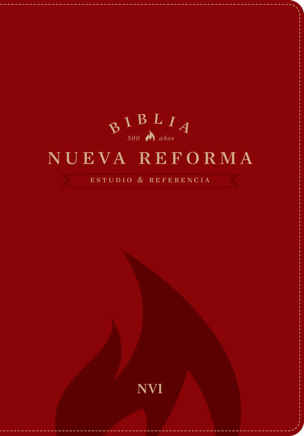 Biblia NVI de Estudio Nueva Reforma piel italiana roja