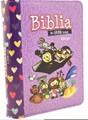 BIBLIA MI GRAN VIAJE REINA VALERA 1960 IMITACIÓN PIEL LILA CON CIERRE, LETRA GRANDE